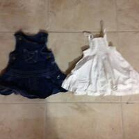 Denim dress & sun dress