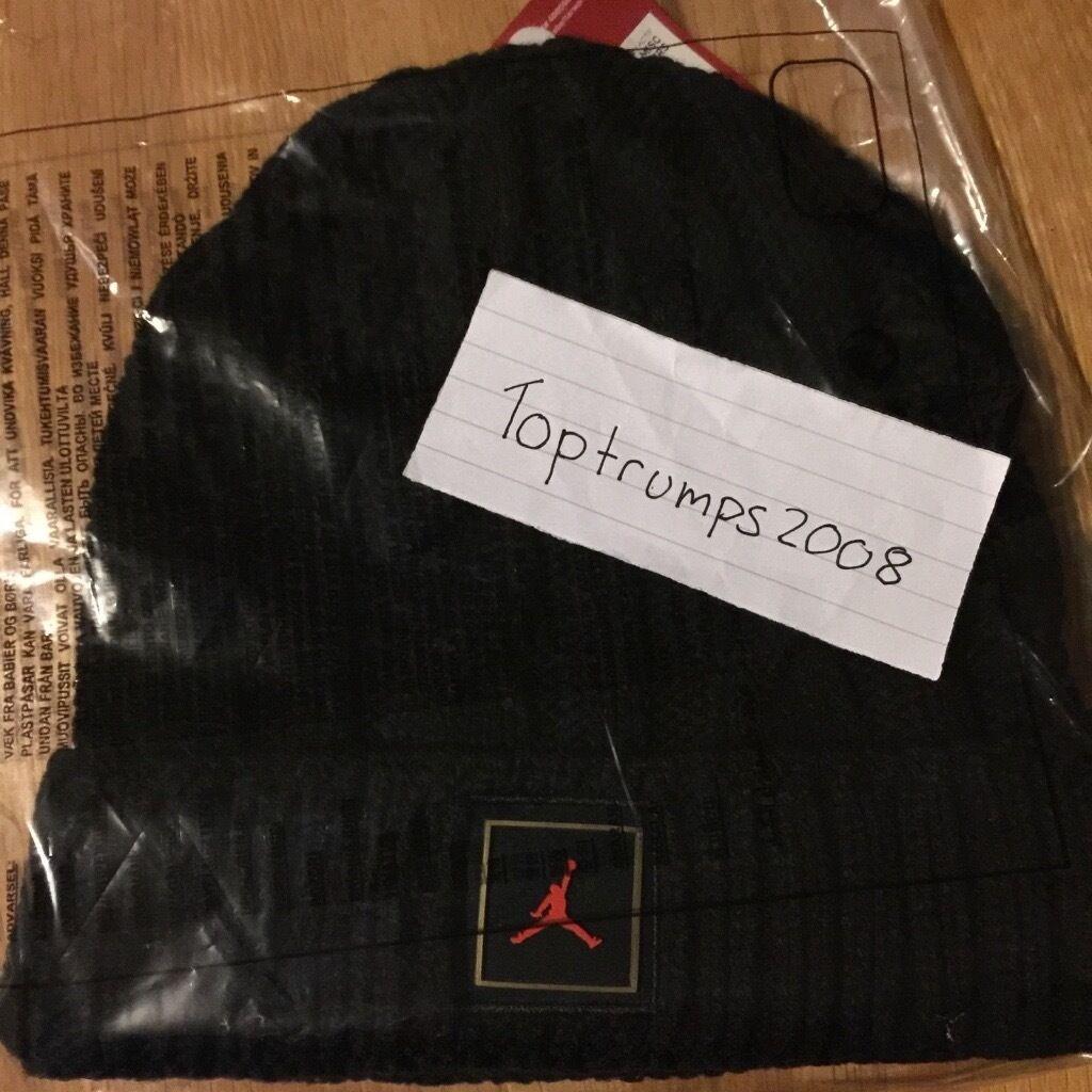 b1c952dc82a official ovo x jordan cuffed black beanie drake hat cap nba more life.  image 1