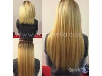 Russian Brazilian Indian virgin Remy micro nano rings hot fusion mobile her extensions from £140