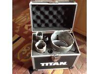Titan, 8 Piece diamond core drill set