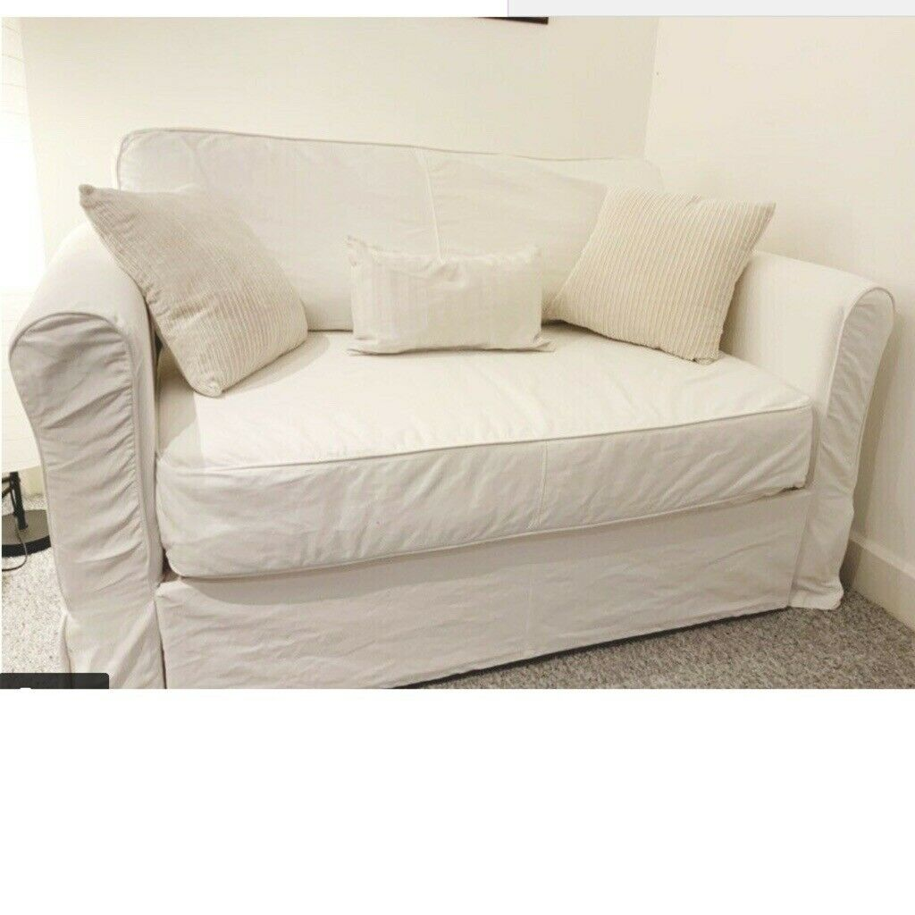 Peachy Sofa Bed Ikea Hagalund 2 Seater Rarely Used Comfy Mattress On Wood Slats White Washable Cover In Luddendenfoot West Yorkshire Gumtree Alphanode Cool Chair Designs And Ideas Alphanodeonline