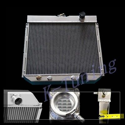 ALL ALUMINUM RADIATOR 3 ROWS FIT FOR 67 68 69 FORD MUSTANG Base Fastback