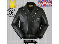 100% REAL MEN'S COWHIDE LEATHER JACKET