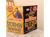 Horrible histories set of 2 paperback books new by Terry Deary.