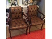 Chesterfield Dining Chairs - Stunning condition x2