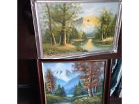 2 x oil paintings signed by artists