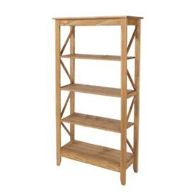 Pine 5 tier shelf unit