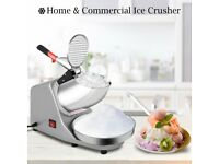 TABLE TOP OR UNDER COUNTER ELECTRIC ICE CRUSHER / SLICER / SHAVER FOR