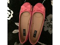 Brand new womens peach dolly shoes