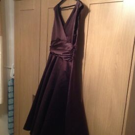 Phase eight 1950 style dress with peridot. size 14 colour as chocolate brown