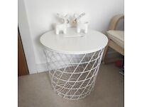 IKEA basket side table