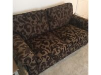 Excellent Sofa- 3 seater and arm chair. Chocolate Montreal