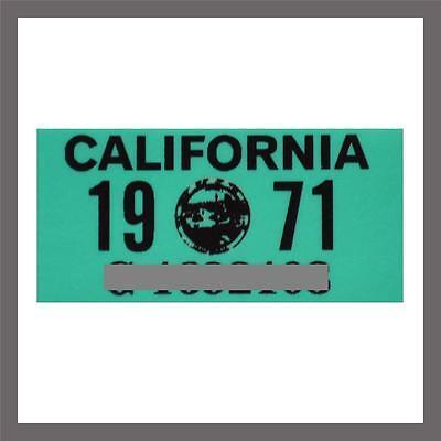 1971 California Yom Dmv Truck Commercial License Plate Sticker   Tag Ca 1963 71