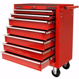 NEW 7 Drawer Red Lockable Tool Chest Roller Cabinet