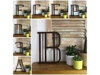 """5"""" AND 12"""" RUSTIC METAL LETTERS IN DIFFERENT FONTS AND FINISHES"""