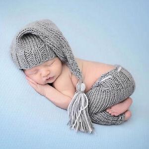 9ee0b99e946 Newborn Baby Boys Girls Cute Crochet Knit Costume Photo Photography Prop  Outfits