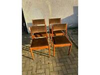 Set of 4 G Plan Mid Century Teak Dining Chairs - Refurb Project