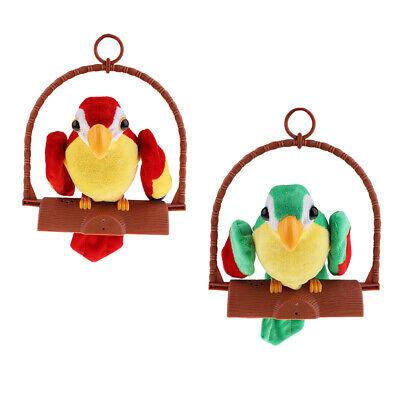 Sprechender Papagei Haustierspielzeug Aufnahme wiederholt Kinder Kinder
