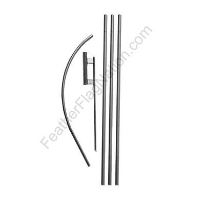 Feather Flag Nation Feather Banner Swooper Flag Kit - Pole Spike
