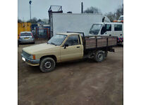 Left hand drive Toyota Hilux 2.4 diesel 4X2 pick up truck. Low miles.
