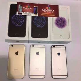 APPLE IPHONE 6 128GB UNLOCKED MINT CONDITION COMES WITH WARRANTY , ACCESSORIES AND BOX
