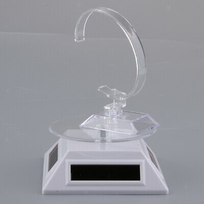 Solar Powered Rotating Rotary Display Stand Turntable Show Case Collectible