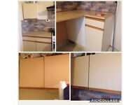 Kitchen units cabinets for sale or swap from council house