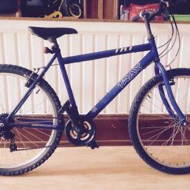 "Mens mountain bike - 18"" lightweight Trax - 26"" wheels, 18-speed"