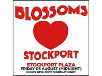 2x Blossoms tickets album launch show, Stockport Plaza, Friday 5th August 2016