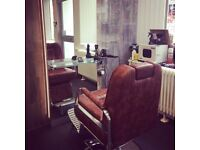 Brown Luxury leather effect Barbers chair