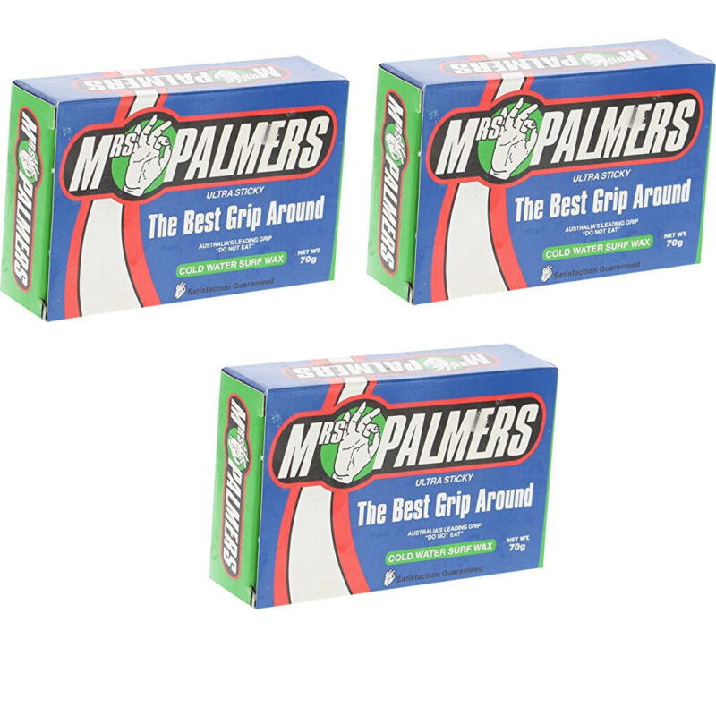Mrs Palmers Surfboard Wax Cold 3-Pack