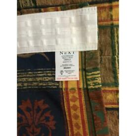 NEXT CHENILLE CURTAINS. Two pairs sold together only. 190 x 183 & 190 x 137.
