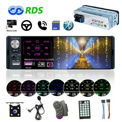"""4.1"""" 1DIN Car Stereo Radio RDS FM AUX Bluetooth Touch Screen MP5 Player +Camera"""