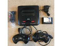 Sega Mega Drive 2 Console - with Sonic hedgehog game