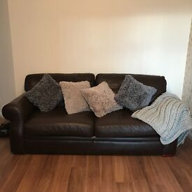 3 seater sofa x2 + chair and Large foot stool