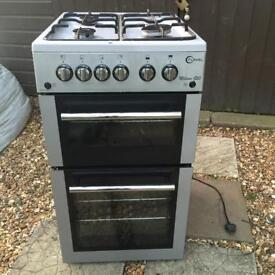 GAS COOKER WITH OVEN AND SEPARATE GRILL EX CLEAN CON £75.