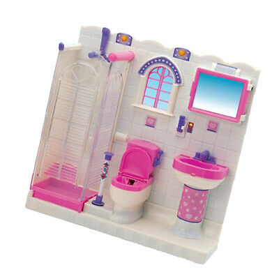 Plastic Bathroom Furniture Play Set for Doll House