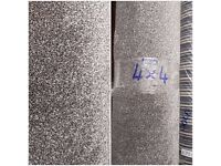 (4 x 4) Silver Carpet Remnant - NEW - £110
