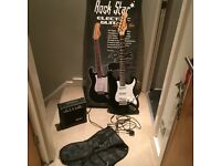 Rockstar electric guitar and amp set, excellent condition only used once. Fully boxed