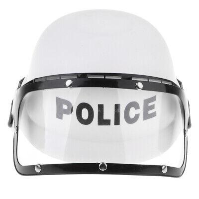 Diy Cop Costume (Police Motorcycle Cop Helmet & Visor Children DIY Costume Pretend Play)