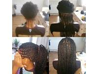 Senegali twists, box braid, cornrows and many more