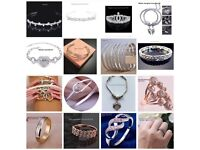 Jewellery JOBLOT approx 430 items earrings, bracelets,necklaces,watches,rings,anklets, £350ono