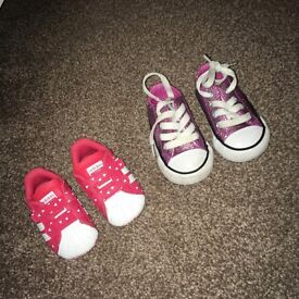 Toddler converse & adidas superstars