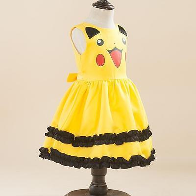 Pikachu Cosplay Mädchen Kleid Rock Prinzessin Party Kleid