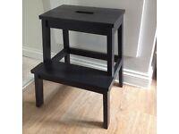 Ikea BEKVAM step stool black