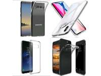 450 mix iphone X samsung galaxy Note 8 and S8 clear Gel case High quality. Wholesale. Joblot. Resale