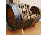 Oak Whisky Barrel Seat