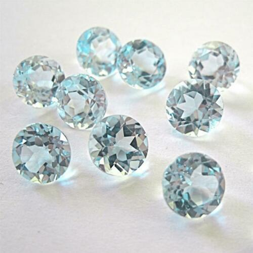 Wholesale Lot 5mm Round Facet Cut Natural Blue Topaz Loose Calibrated Gemstone