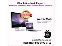 Apple iMac And Macbook Repair Service, Data Recovery, Liquid Spilled Water, Memory Upgrade, Ect.