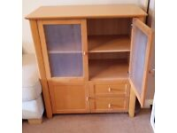 Beech TV unit and Cabinet